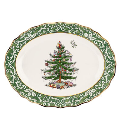 """Spode """"Christmas Tree Gold"""" Large Platter"""