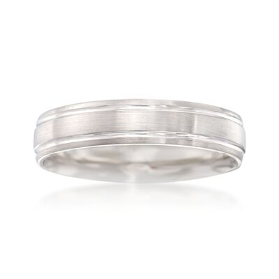 Men's 5mm 14kt White Gold Wedding Ring