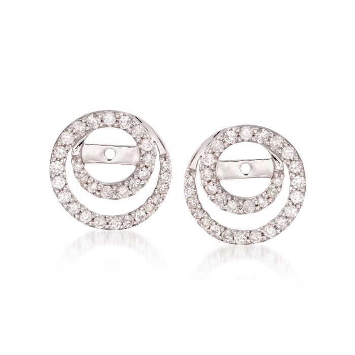 .50 ct. t.w. Diamond Earring Jackets in 14kt White Gold, , default