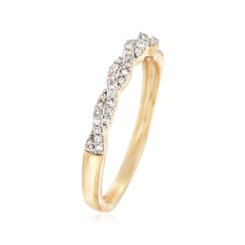 .15 ct. t.w. Diamond Braided Ring in 14kt Yellow Gold, , default