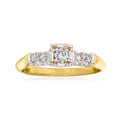 C. 1955 Vintage .20 ct. t.w. Diamond Ring in 14kt Two-Tone Gold