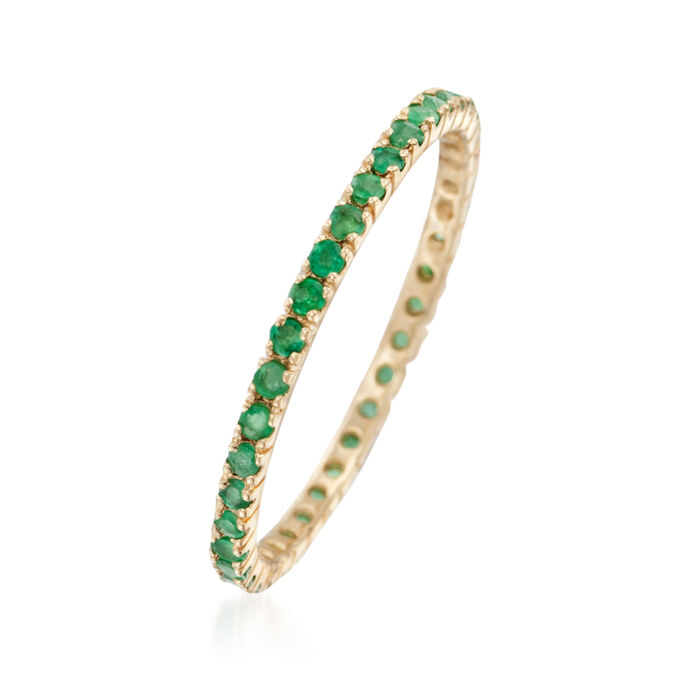.33 ct. t.w. Emerald Eternity Band in 14kt Yellow Gold