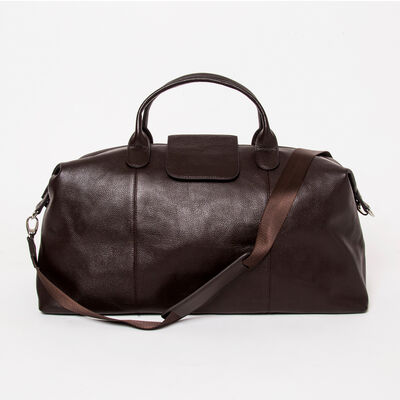 "Brouk & Co. ""Standford"" Brown Genuine Leather Duffel Bag, , default"
