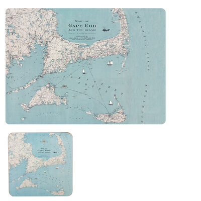 Cape Cod and the Islands Set of 4 Placemats and Coasters