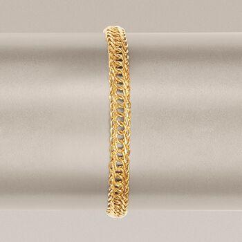 14kt Yellow Gold Double Oval-Link Bracelet, , default
