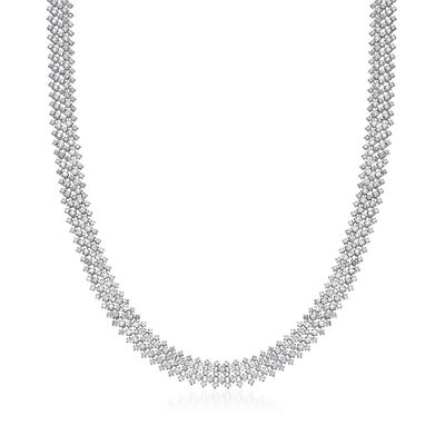 12.80 ct. t.w. Diamond Mesh Necklace in 18kt White Gold, , default