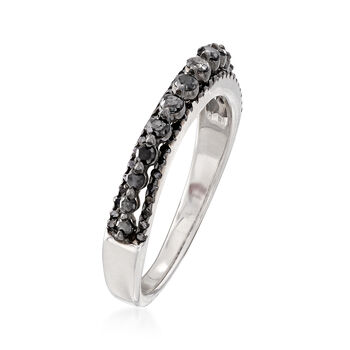 .41 ct. t.w. Diamond Three-Row Ring in Sterling Silver, , default