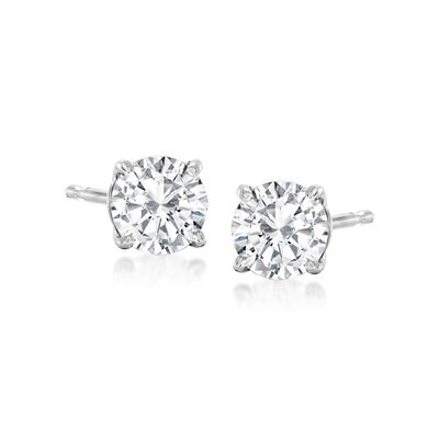 .75 ct. t.w. Diamond Stud Earrings in 14kt White Gold