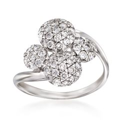 "Kwiat ""Moonrise"" .85 ct. t.w. Diamond Ring in 18kt White Gold, , default"