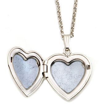 "Sterling Silver and 14kt Yellow Gold ""I Love You"" Heart Locket Necklace. 18"", , default"