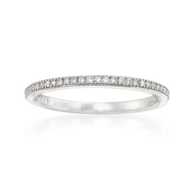 Simon G. .15 ct. t.w. Diamond Wedding Ring in 18kt White Gold, , default
