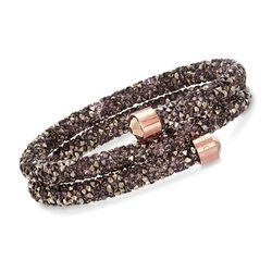 "Swarovski Crystal ""Crystaldust"" Multicolored Crystal Coil Bracelet in Rose Gold Plate. 7"", , default"