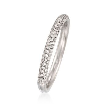 Simon G. .43 ct. t.w. Diamond Wedding Ring in 18kt White Gold