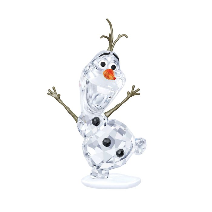 "Swarovski Crystal ""Olaf"" Orange and Clear Crystal Figurine"