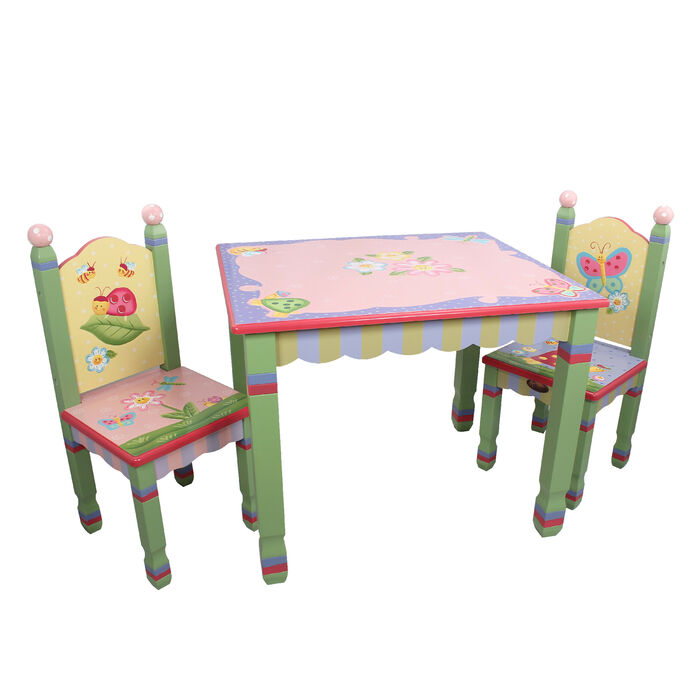 Child's Magic Garden 3-pc. Wooden Set: Table and 2 Chairs, , default
