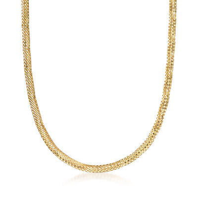 Italian Cleopatra Mesh Necklace in 14kt Yellow Gold, , default