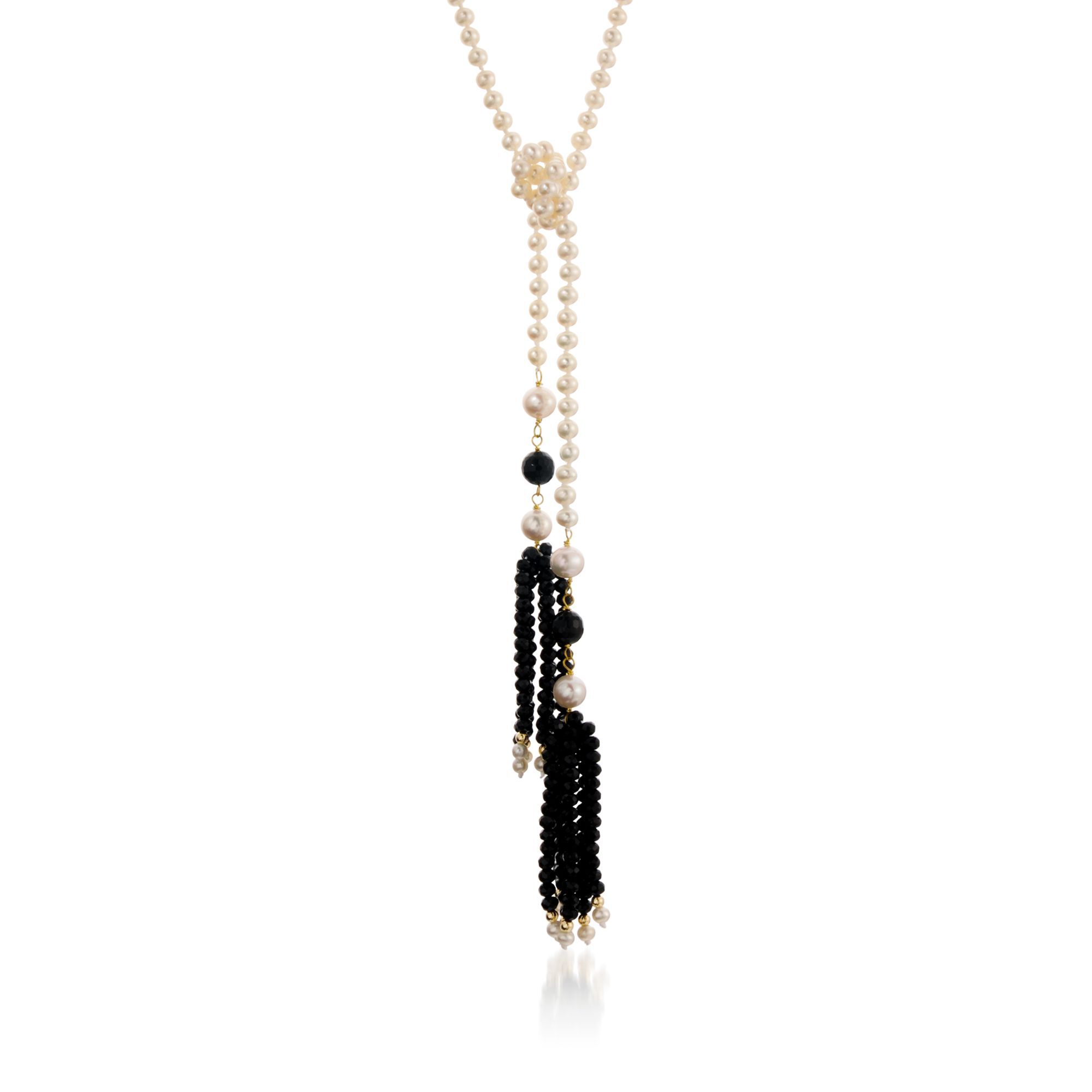 Simons Pearl lariat necklace