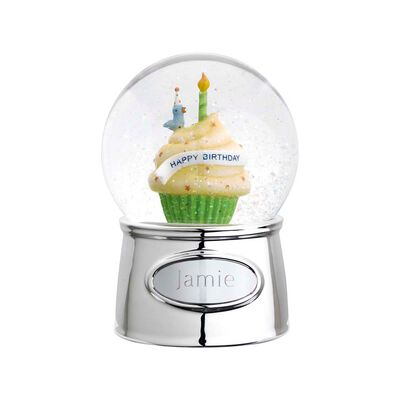 "Reed & Barton ""Let's Celebrate"" Personalized Musical Happy Birthday Water Globe, , default"