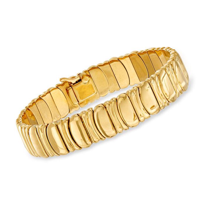 """C. 1992 Vintage Cartier 18kt Yellow Gold Link Bracelet. 7"""""""