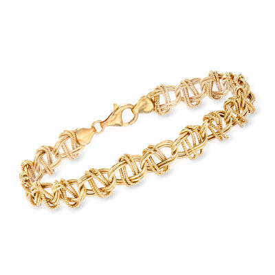 14kt Yellow Gold Oval-Link Bracelet, , default