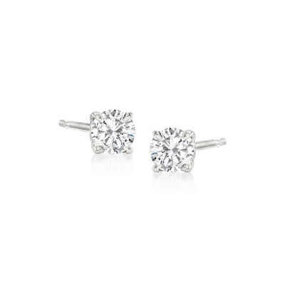 .20 ct. t.w. Diamond Stud Earrings in 14kt White Gold