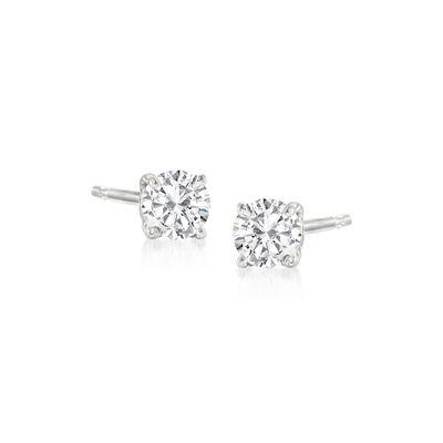 .20 ct. t.w. Diamond Stud Earrings in 14kt White Gold