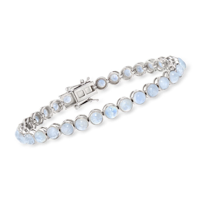 Moonstone Tennis Bracelet in Sterling Silver