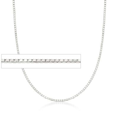 1mm Sterling Silver Adjustable Slider Box Chain Necklace, , default