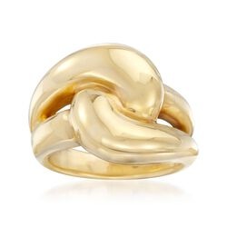 Italian 14kt Yellow Gold Knot Ring. Size 8, , default