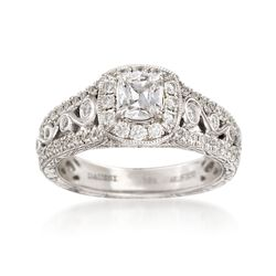 Henri Daussi 1.12 ct. t.w. Diamond Engagement Ring in 18kt White Gold, , default
