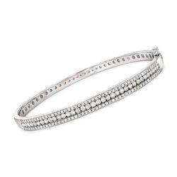 2.00 ct. t.w. Diamond Bangle Bracelet in Sterling Silver, , default