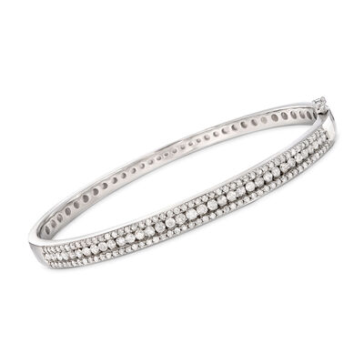 2.00 ct. t.w. Diamond Bangle Bracelet in Sterling Silver, , default