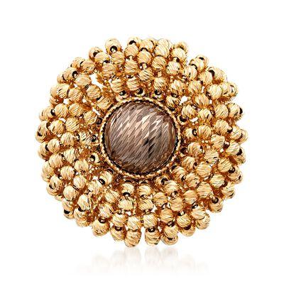 Italian 14kt Yellow Gold Flower Ring, , default