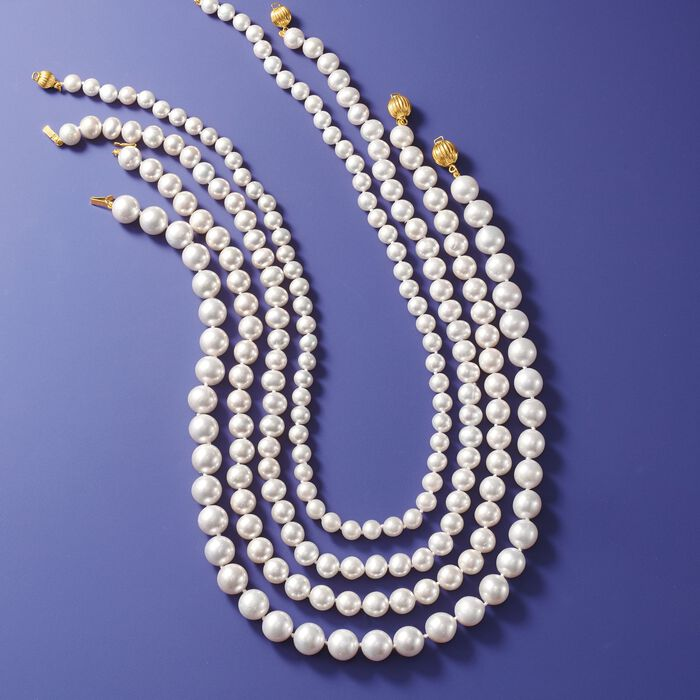 7-8mm Cultured Pearl Necklace with 14kt Yellow Gold