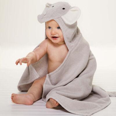 Elegant Baby Hooded Elephant Bath Towel , , default