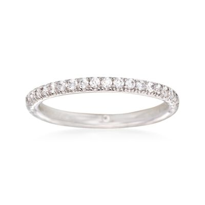 Gabriel Designs .30 ct. t.w. Diamond Wedding Ring in 14kt White Gold, , default