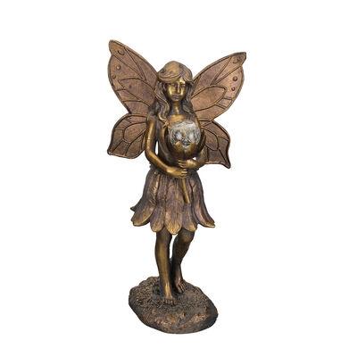 Regal Outdoor Solar Fairy Garden Statue, , default