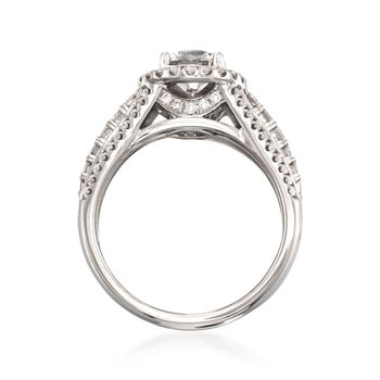 Simon G. .99 ct. t.w. Diamond Engagement Ring Setting in 18kt White Gold, , default