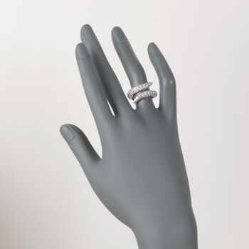 """Roberto Coin """"Fantasia"""" 2.40 ct. t.w. Diamond Cobra Bypass Ring in 18kt White Gold. Size 6.5, , default"""