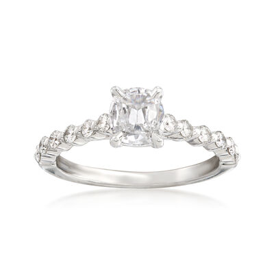 Henri Daussi 1.05 ct. t.w. Diamond Engagement Ring in 18kt White Gold, , default