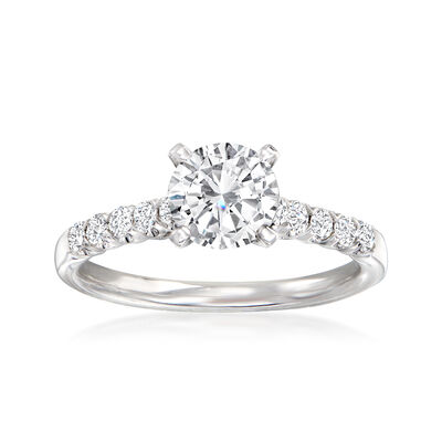 .28 ct. t.w. Diamond Engagement Ring Setting in 14kt White Gold