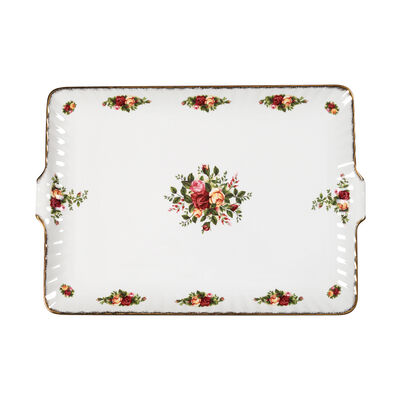 "Royal Albert ""Old Country Roses"" Fluted Serving Tray"