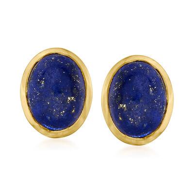 Lapis Earrings in 18kt Gold Over Sterling