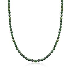 "C. 1960 Vintage 80.00 ct. t.w. Green Tourmaline Necklace With 14kt Yellow Gold. 19"", , default"