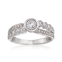 .50 ct. t.w. Diamond Crisscross Ring in 14kt White Gold, , default