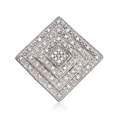 .15 ct. t.w. Diamond Concentric Square Pendant Necklace in Sterling Silver, , default
