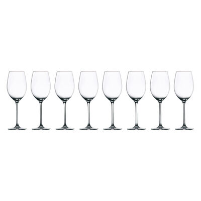 "Waterford Crystal ""Marquis Moments"" Set of Eight White Wine Glasses"