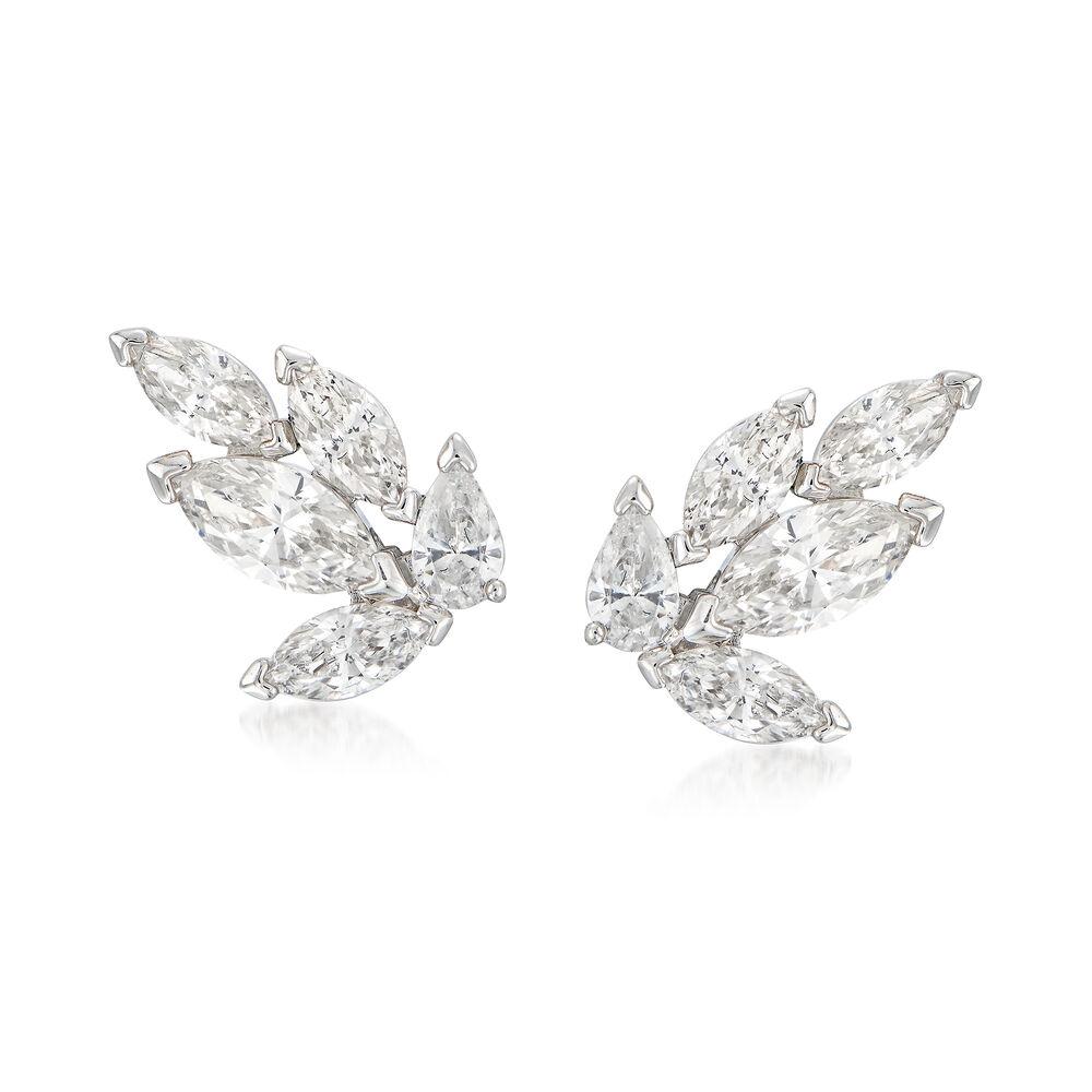 "3fb07053f4184f Swarovski Crystal ""Louison"" Marquise Crystal Stud Earrings in  Silvertone, , default"