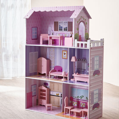 Child's Fancy Mansion 13-pc. Dollhouse, , default