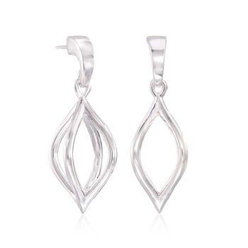 "Zina Sterling Silver ""Wired"" Pod Earrings"